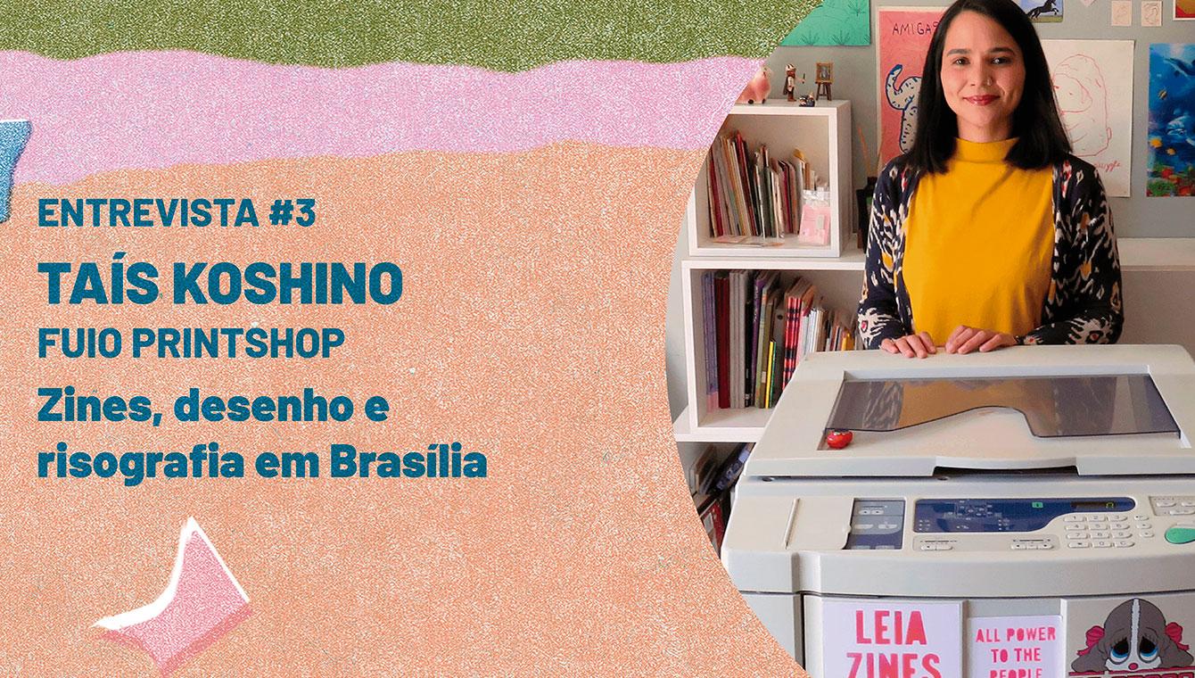 Zines, desenho e risografia em Brasília